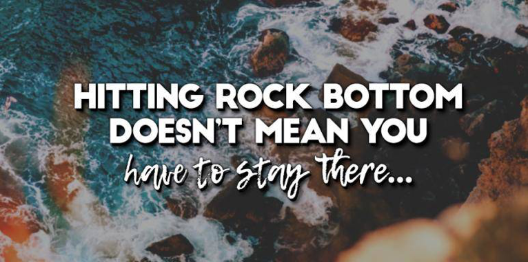 Image result for rock bottom quotes